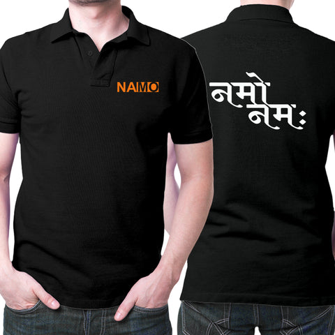 Namo Polo T-Shirt Black