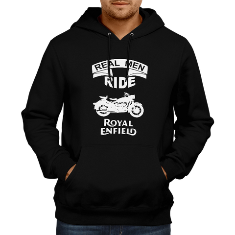 Real Men Ride -Black Hoodie