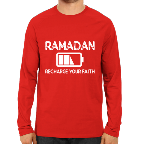 Recharge Your Faith Full Sleeve-Red
