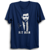 Image of CRIC 22 -Rohit Sharma Hit Man-Half Sleeve-Navy Blue