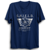 Image of Shield Academy Half Sleeve Navy Blue