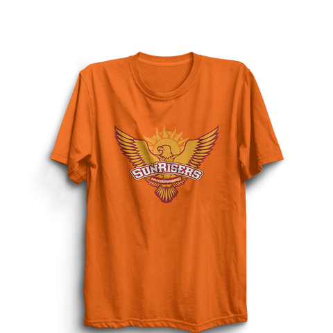 IPL 09 - Sunrisers Hyderabad -Half Sleeve Orange