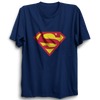 Image of Superman Half Sleeve Navy Blue