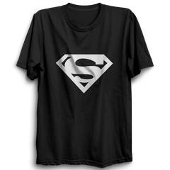 Superman Logo Half Sleeve Black