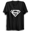 Image of Superman Logo Half Sleeve Black