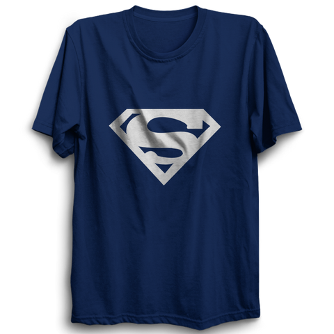 Superman Logo Half Sleeve Navy Blue