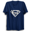 Image of Superman Logo Half Sleeve Navy Blue