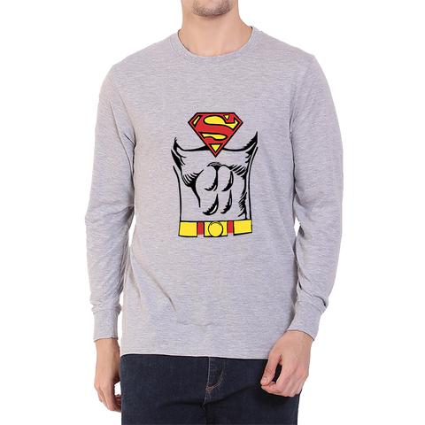Superman Body -Full Sleeve Grey