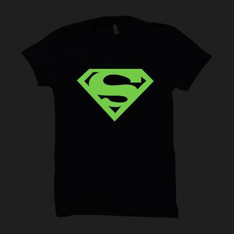 Superman Logo Blue-Half Sleeve (Glow In The Dark)