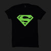 Image of Superman Logo Blue-Half Sleeve (Glow In The Dark)