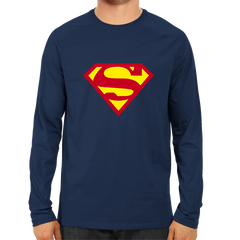 Superman Full Sleeve Navy Blue