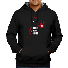 Ironman Talk To The Hand - Black Hoodie
