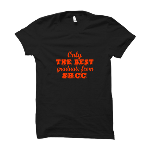 The Best Graduate From SRCC Half Sleeve-Black