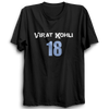 Image of CRIC 29- Virat Kohli 18 -Half Sleeve-Black