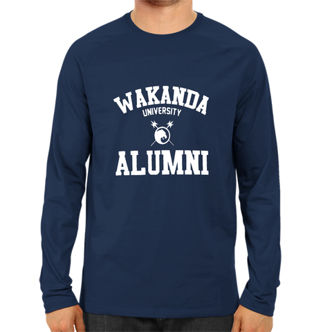 Wakanda University Alumni Full Sleeve Navy Blue