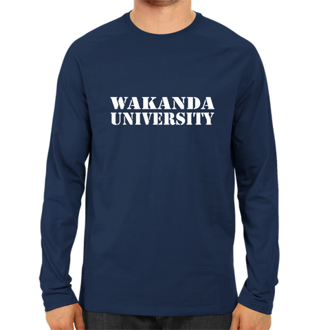 Wakanda University Full Sleeve Navy Blue
