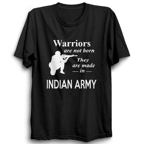 Warriors Indian Army Half Sleeve Black