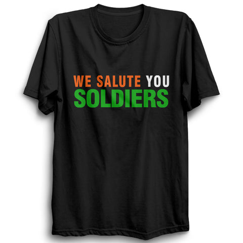 We Salute You Soliders Half Sleeve Black
