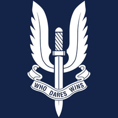 Who Dare Wins Polo T-Shirt Navy Blue