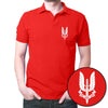 Image of Who Dare Wins Polo T-Shirt Red