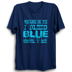 CRIC 57- Win Lose Or Tie-Half Sleeve-Navy Blue