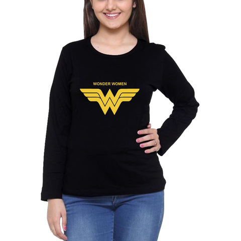 Wonder Woman Full Sleeve Black