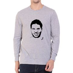 CRIC 49 - Yuvraj Singh Face -Full Sleeve-Grey