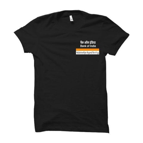 Bank Of India Logo- T Shirt