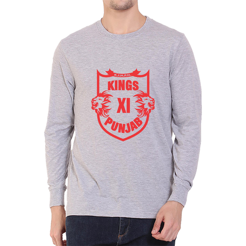 IPL 04 - Kings XI Punjab - Full Sleeve-Grey