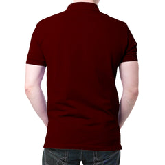 India Flag Polo T-Shirt Maroon