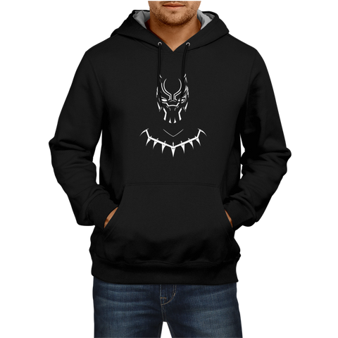 Black Panther Face 2 - Black Hoodie