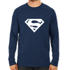Image of Superman Logo Full Sleeve Navy Blue