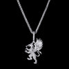 White Gold Griffin Pendant