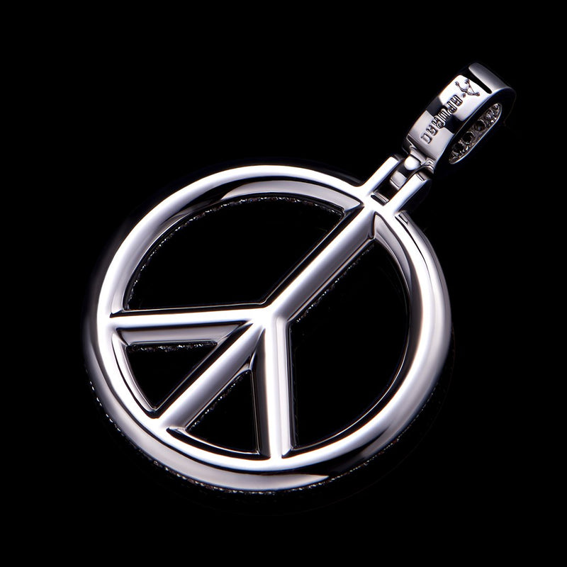 Iced Peace Sign Pendant
