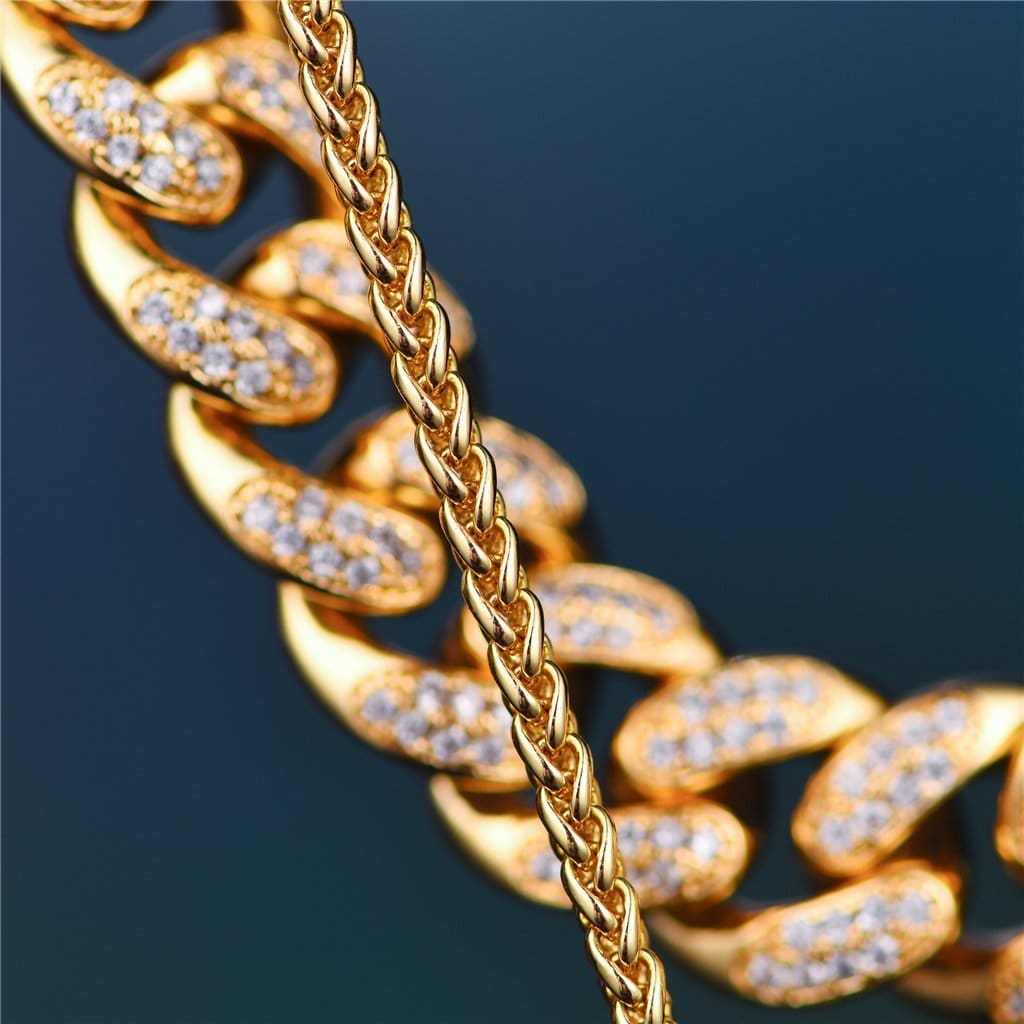 eba1d4bea60eb 14K Gold Iced Cuban or Tennis Chain + Twisted Snake Set -