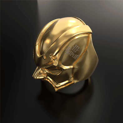 18KARAT X APORRO 18K Gold Plated Ring in Stainless Steel