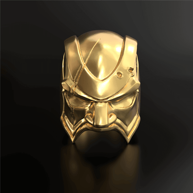 18KARAT X APORRO Mask Ring in 925 Sterling Silver