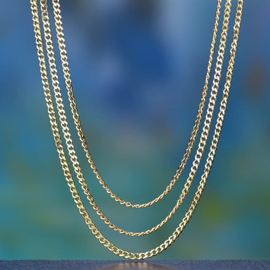 3.6Mm 14K Gold Miami Cuban Curb Chain Set - Cuban Link Set
