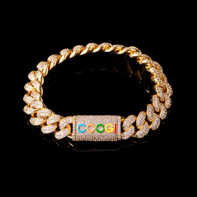 "APORRO X COOGI 12mm 18K Gold ""BASIC"" Cuban Bracelet"