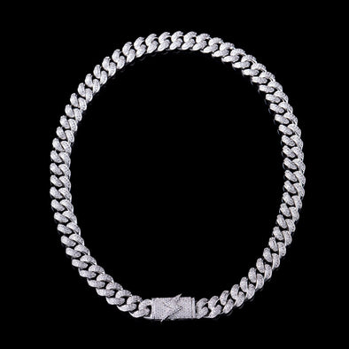 12mm Lighting Box Clasp Cuban Link Chain
