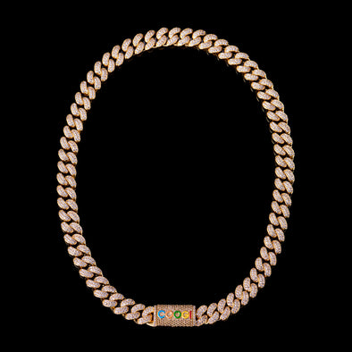 "APORRO X COOGI 12mm 18K Gold ""BASIC"" Cuban Chain"