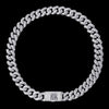 WONG Dragon Box Clasp Cuban Chain White Gold