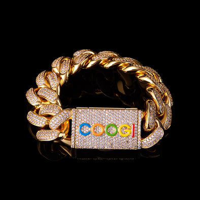 "APORRO X COOGI 19mm 18K Gold ""BASIC"" Cuban Bracelet"