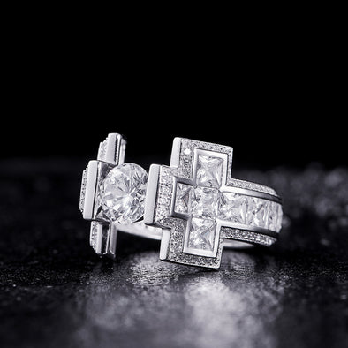 Big Cross Ring in 925 Sterling Silver