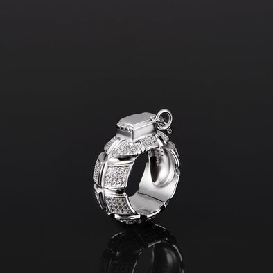 Iced Grenade Ring Size 8