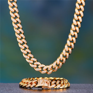 14k gold cuban chains bracelets Aporro