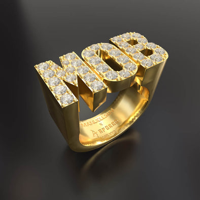Manuellsen X Aporro 14K Solid Gold & 1.2ctw Diamond MOB Ring
