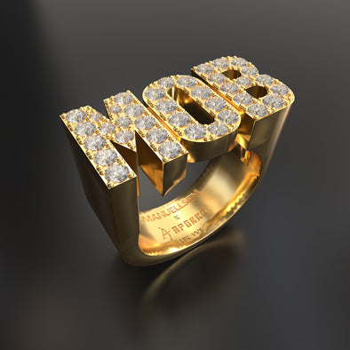 Manuellsen X Aporro 18K Solid Gold & 1.6ctw Diamond MOB Ring