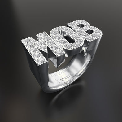 Manuellsen X Aporro Bague MOB icy en Or blanc en argent 925 Sterling