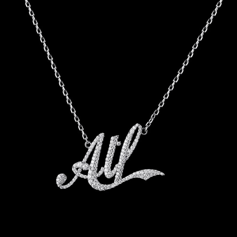 Custom Iced Letter Name Necklace